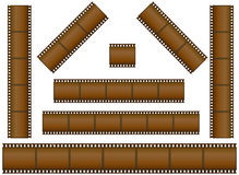 Filmstrips. Set of filmstrips vector illustration Stock Photo