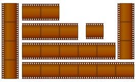Filmstrips. Set of brown filmstrips  illustration Royalty Free Stock Image