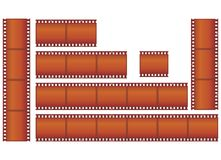 Filmstrips. Vector illustration clipart: set of filmstrips Stock Photo