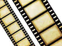 Filmstrips. Grunge, old style filmstrip illustration in black and white Royalty Free Stock Image
