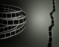 Filmstrips on black Stock Image