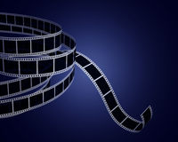 Filmstrips on black Royalty Free Stock Images