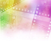 Filmstrips. Colorful filmstrips background. Copy space Royalty Free Stock Photography