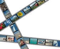 Filmstrips con las fotos de las vacaciones de verano Imagen de archivo