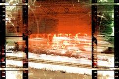 Filmstrips en la escena de Grunge Foto de archivo