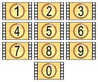 Filmstrips numerados Fotografía de archivo