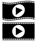 Filmstrips for photography, multimedia or related topics. Royalty free vector illustration Stock Images