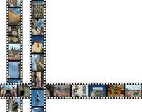 filmstrips prague arkivbild