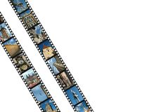 Filmstrips with Prague,Czech Republic Stock Photography