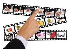 filmstrips ręka Zdjęcie Stock