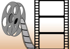 Filmstrips and roll Royalty Free Stock Images