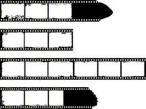 Filmstroken, grungy fotokaders royalty-vrije illustratie
