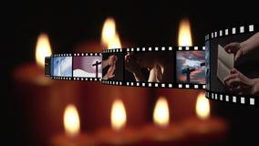 Filmstrook en kaarsen vector illustratie