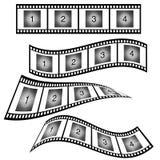 Filmstrook met aantalillustratie Stock Afbeeldingen