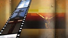 Filmstrook met verschillende video's stock illustratie