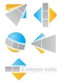 Filmsymboler royaltyfri illustrationer