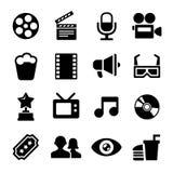 Filmsymbolsuppsättning stock illustrationer
