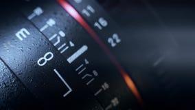 Filmtechniklinsenfokussierung stock footage