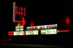 Filmtechnikpark außerhalb des Kinos in Kanada während der Nachtzeit lizenzfreie stockfotografie