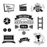 Filmteckenuppsättning stock illustrationer