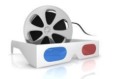 filmteknologi för begrepp 3d Arkivbild