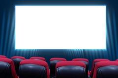 Filmtheater en rode zetels Stock Afbeelding