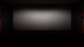 Filmtheater mit einem grünen Schirm stock abbildung