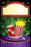 Filmtheaterhintergrund Stockfotos