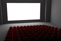 Filmtheaterinnenraum Lizenzfreies Stockfoto