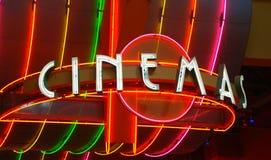 Filmtheaterzeichen Stockfoto