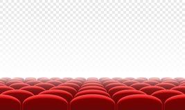Filmu citema siedzenia sala wewnętrzny wektorowy tło royalty ilustracja
