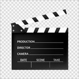 Filmu clapper odizolowywający Kinowa ikona również zwrócić corel ilustracji wektora Zdjęcia Stock