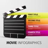 Filmu infographics Obrazy Royalty Free