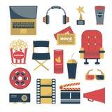 Filmupps?ttning f?r design vektor illustrationer