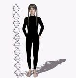 Filo del DNA Fotografia Stock Libera da Diritti