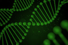 Filo del DNA su fondo nero Fotografie Stock