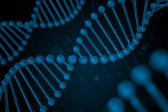 Filo del DNA su fondo nero Immagini Stock Libere da Diritti