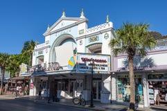 Filo del teatro del cinema di Key West Immagini Stock Libere da Diritti