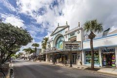 Filo del teatro del cinema in Key West Fotografia Stock Libera da Diritti