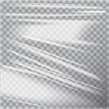 Filo di ordito lucido trasparente della plastica di polietilene Derisione del modello di vettore su illustrazione vettoriale
