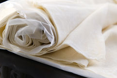 Filo. Folhas feitas prontas da massa de pão, fillo, phyllo Fotos de Stock Royalty Free