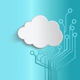 Filo intorno alle nuvole Illustrazione di Stock