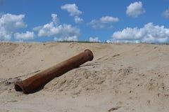 Filo op del het di Rioolpijp Fotografie Stock Libere da Diritti