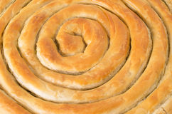 Filo pastry roll close up Stock Photography