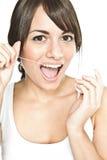 Filo per i denti Fotografia Stock Libera da Diritti