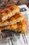 Filo pie with eggs and cheese /Banitsa/ Stock Image