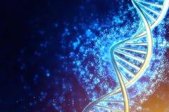Filo umano dell'elica del DNA royalty illustrazione gratis