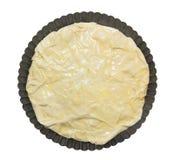 Filo yufka pastry dough, in baking dish,isolated Stock Photos