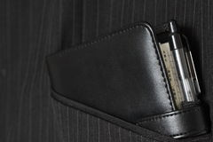 Filofax in suit pocket B. Photograph of a Filofax in a suit pocket Royalty Free Stock Photo