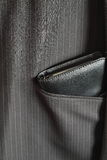 Filofax in suit pocket A. Portrait photograph of a Filofax in a pinstripe suit pocket Royalty Free Stock Photos
